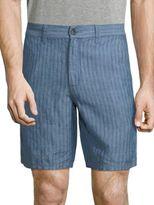 John Varvatos Triple Needle Linen Shorts