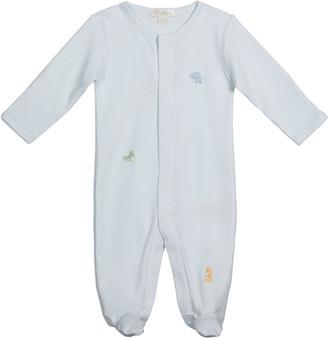 Kissy Kissy Boy's Jungle Babies Pima Cotton Footie Pajamas, Size Newborn-9M