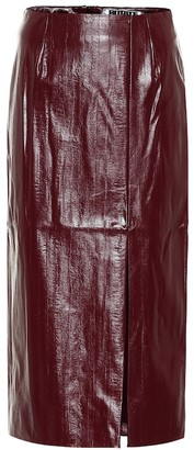 Rotate by Birger Christensen London faux leather pencil skirt