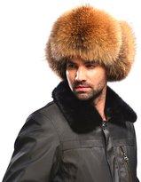 Easting&Co Easting Silver Fox Fur & Leather Russian Ushanka Hat