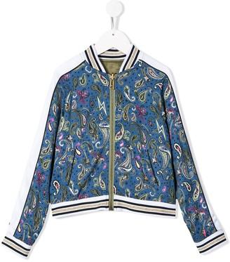 Zadig & Voltaire Kids Ben reversible bomber jacket