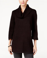 Karen Scott Marled Cowl-Neck Tunic Sweater, Only at Macy's