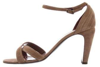 Chanel Suede Crossover Sandals