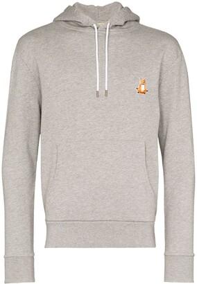 MAISON KITSUNÉ Lotus Fox embroidered-motif hoodie