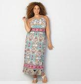 Avenue Floral Border Print Maxi Dress