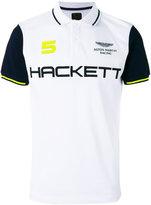 Hackett logo print polo shirt