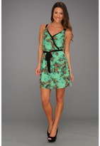 Kensie Wild Orchids Dress (Minty Combo) - Apparel