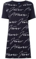 Armani Jeans allover logo print T-shirt