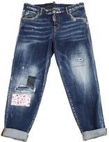 DSQUARED2 Cool Girl Cropped Denim Jeans With Patch