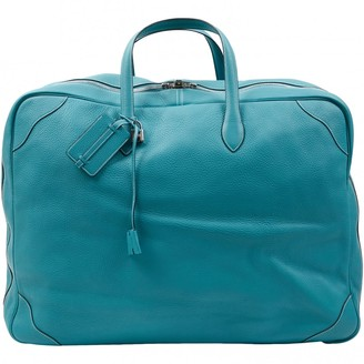 Hermes Turquoise Leather Travel bags