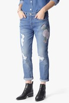 7 For All Mankind Josefina In Embroidered Botanical Denim