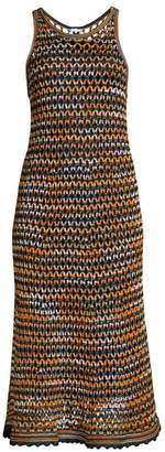 M Missoni Sleeveless Crochet Wool-Blend Midi Dress