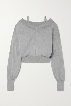 Maison Margiela Cold-shoulder Cotton-jersey Sweatshirt - Gray