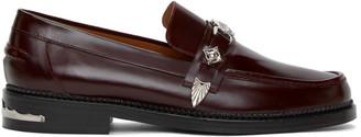Toga Virilis Burgundy Leather Loafers