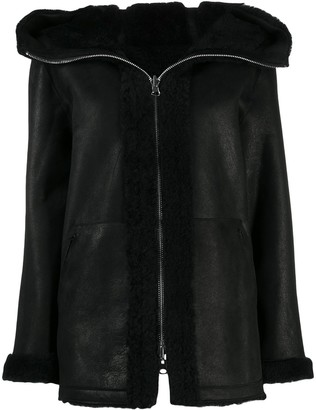 Sylvie Schimmel hooded leather jacket