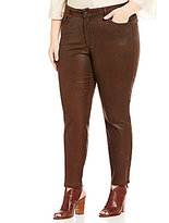 NYDJ Plus Alina Faux Leather Coating Legging