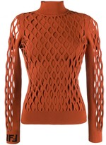Fendi Mesh Effect Sweater