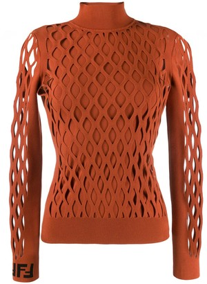 Fendi Mesh Effect Jumper