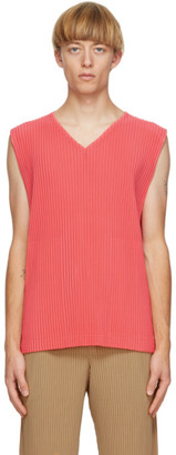 Homme Plissé Issey Miyake Pink Colorful Pleats Tank Top