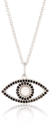 Scream Pretty Silver Opal Eye Necklace With Slider Clasp