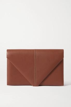 Hunting Season Envelope Leather Clutch - Brown