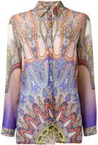 Etro Indian print shirt - women - Silk - 48