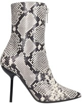 Taverniti So Ben Unravel Project High Heels Ankle Boots In Animalier Leather