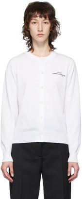 Comme des Garcons White Logo Cardigan
