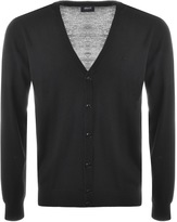 Armani Jeans Button Cardigan Jumper Black