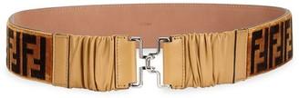 Fendi Leather Logo Belt