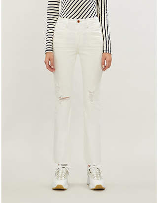 AG Jeans Isabelle straight high-rise cropped jeans