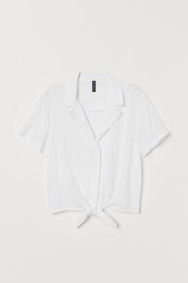 H&M Tie-hem Resort Shirt