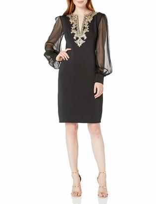 Tadashi Shoji Women's L/S Neoprene Dress