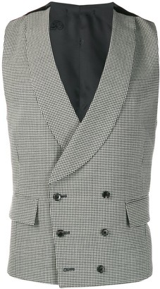 Gabriele Pasini houndstooth double-breasted waistcoat