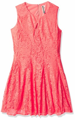 Julian Taylor Women's Plus Size Sleeveless Fit and Flare Lace Key Hole Dress