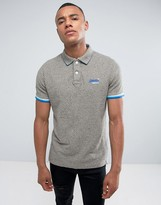 Superdry Pique Polo Shirt With Sleeve Tipping