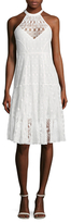 Tracy Reese Lace Halter Flared Dress