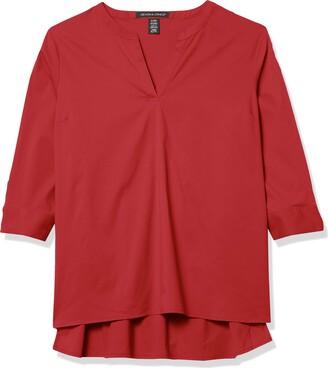 D & Jones Women's Perofmrance Stretch Tunic Long Sleeve V-Neck Shirt