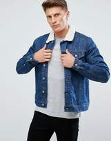 Esprit Denim Jacket With Borg Collar