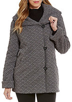 Gallery Cozy Fleece Hooded Shawl Collar Coat