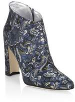 Manolo Blahnik Brusta 105 Embroidered Block Heel Booties