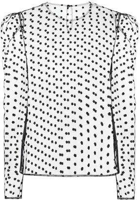 Philosophy di Lorenzo Serafini Daisy embroidered tulle top