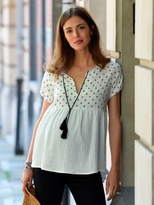 Vertbaudet Embroidered Maternity Blouse