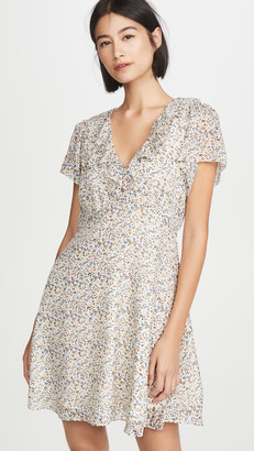 Madewell Ruffle V Neck Mini Dress