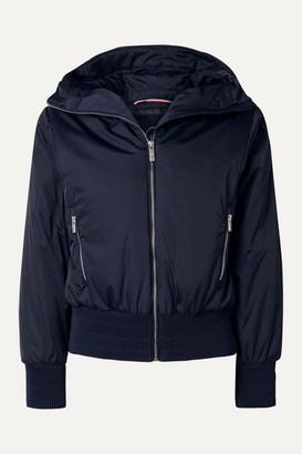 Fusalp Melly Velvet-trimmed Hooded Ski Jacket - Midnight blue