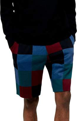 Topman Classic Fit Checkerboard Shorts