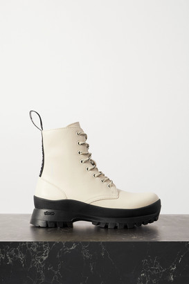 Stella McCartney Trace Grosgrain-trimmed Vegetarian Leather Ankle Boots