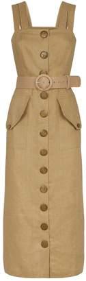 Nicholas Linen Button-Front Dress