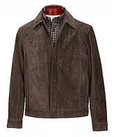 Roundtree & Yorke Suede Leather Hipster Jacket