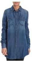 Roy Rogers Roy Roger's Women's Blue Cotton Shirt.